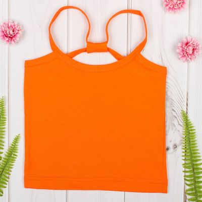 """Майка для девочки """"Карина"""", рост 146-152 см, цвет оранжевый 1054"""