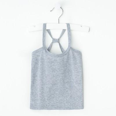 "Майка для девочки ""Карина"", рост 98-104 см, цвет серый меланж 1054"