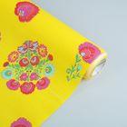 """Бумага упаковочная крафт """"Латона"""", жёлто-красный, 0.5 х 10 м"""