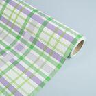 Бумага упаковочная крафт, зелёно-сиреневый, 0.5 х 10 м