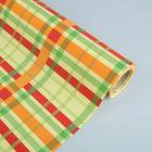 Бумага упаковочная крафт, зелёно-красный, 0.5 х 10 м