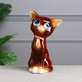 """Копилка """"Кошка Соня"""", коричневая, глянец, 24 см, микс"""