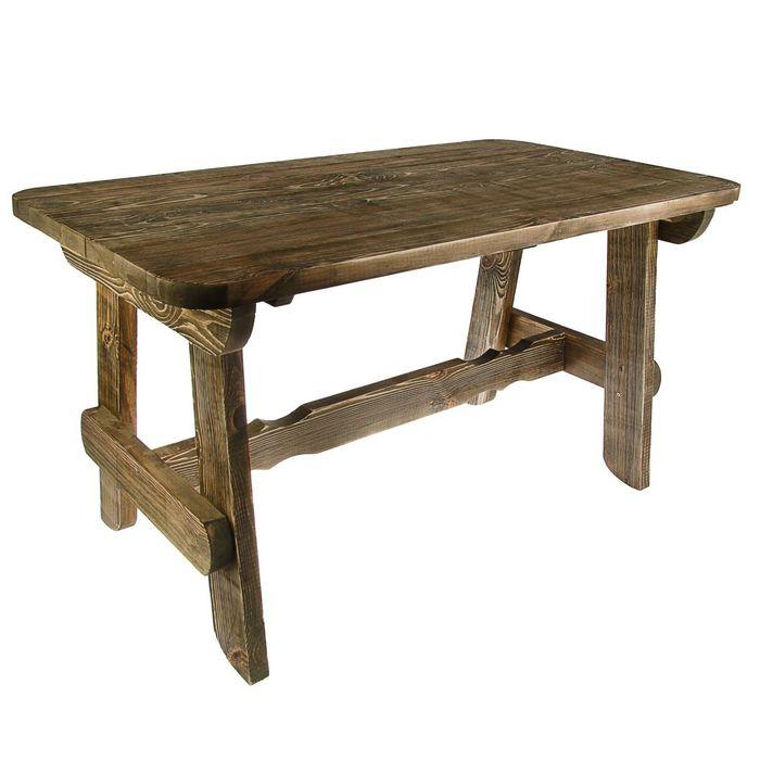 """Стол """"Разбойник"""" 160 см, сосна брашированный"""