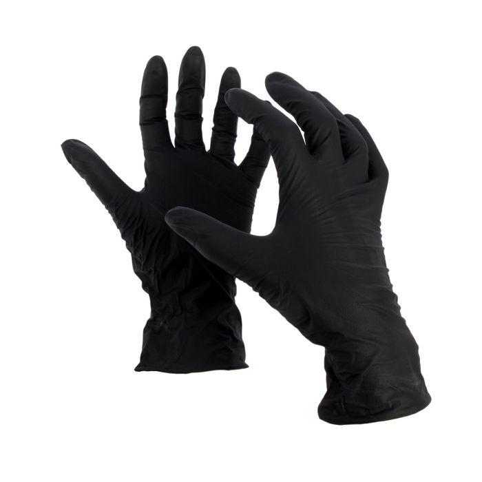 """Перчатки нитриловые, размер M, """"Стандарт"""", 100 шт/уп, цвет чёрный"""