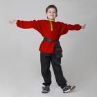 Детская рубаха с кушаком, цвет красный, 6-7 лет