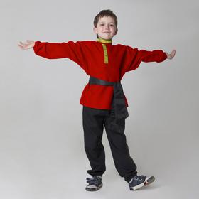 Children's shirt with sash, red, 6-7 years