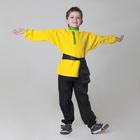 Детская рубаха с кушаком, цвет жёлтый, 6-7 лет