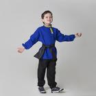 Детская рубаха с кушаком, цвет синий, 6-7 лет
