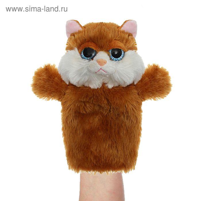 "Мягкая игрушка на руку ""Кошка"", цвет рыжий"