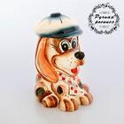 сувенирные фигурки собаки из гжели