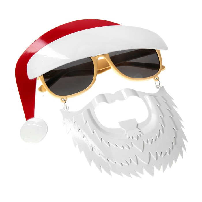 """Карнавальные очки """"Дед мороз с бородой"""""""