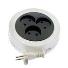 Extension-tape TUNDRA, 3 sockets, SHVVP 2x0.5, 3 m, 6 A, without z/K, GOST