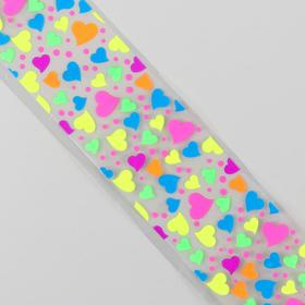 Slider design nail Hearts, neon colors MIX