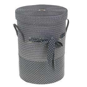 Корзина универсальная плетёная с крышкой Доляна «Грей», 36×36×48 см, цвет серый