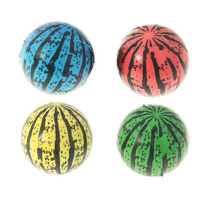 """Мяч каучуковый """"Арбуз"""", 3,2 см, цвета МИКС"""