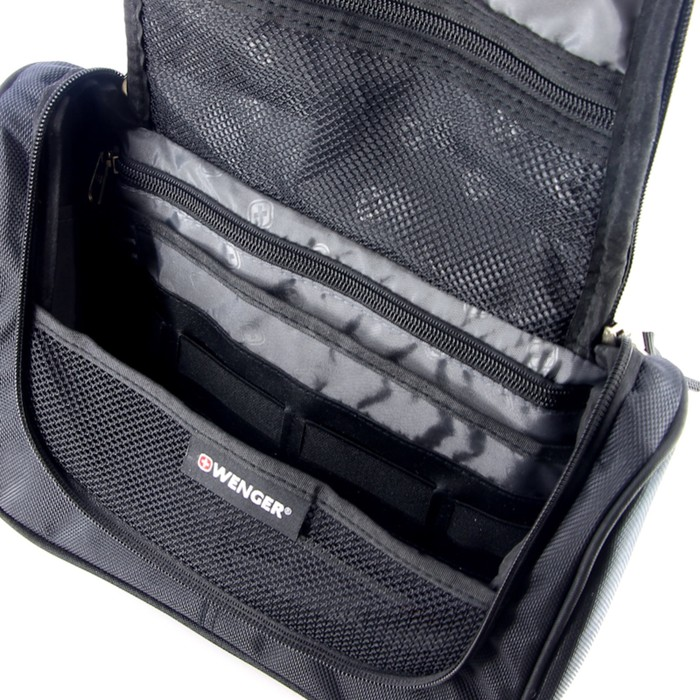 Несессер Wenger Toiletry Kit, дорожный, чёрный, 27 х 11 х 22 см