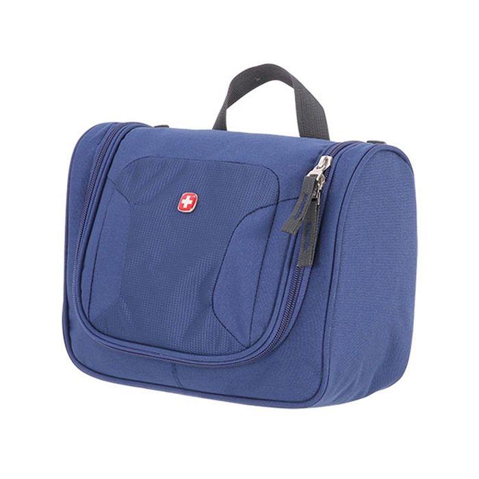 Несессер Wenger Toiletry Kit, дорожный, синий, полиэстер, 27 х 11 х 22 см