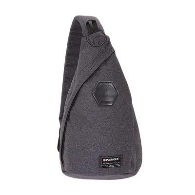 8d71466e7207 Рюкзак WENGER на одно плечо, cерый, ткань Grey Heather/ полиэстер 600D PU,  25х15х45 см, 7 л 239753