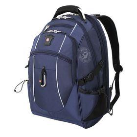 Рюкзак Wenger с отделением для ноутбука 15, 6677, 48 х 34 х 23, 38 л, синий/серебристый, 900D/М2, добби