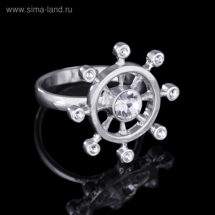 """Кольцо """"Рудерлис"""", размер 16, цвет белый в серебре"""
