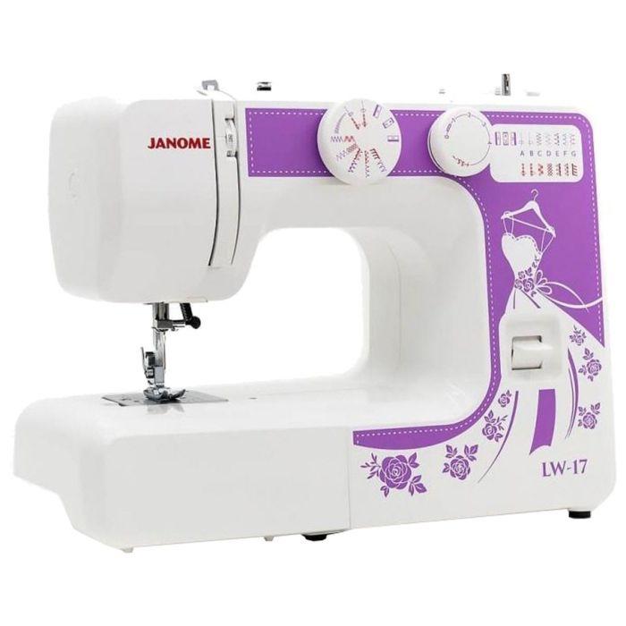 Швейная машина Janome LW-17, 15 операций, обметочная, потайная, эластичная строчка