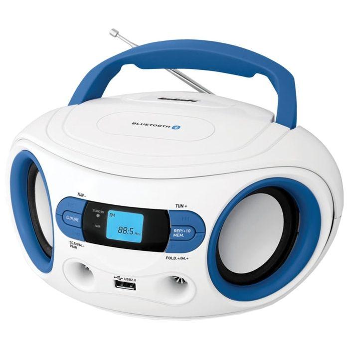 Магнитола BBK BS15BT белый/голубой