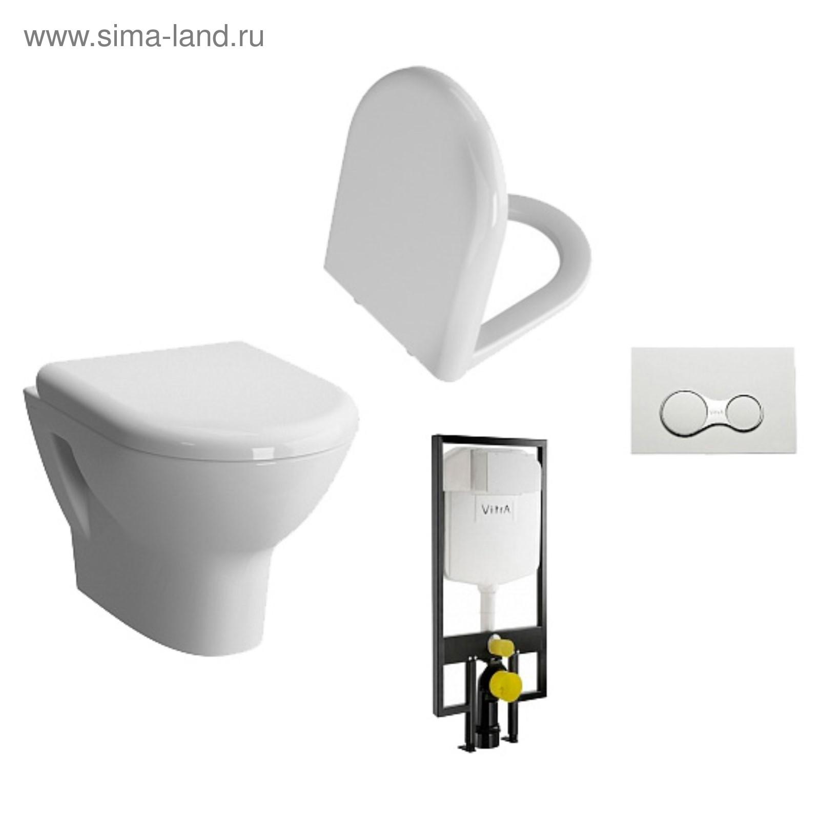 Комплект VitrA Zentrum подвесной унитаз с кнопкой смыва сантехника для кухни в красноярске