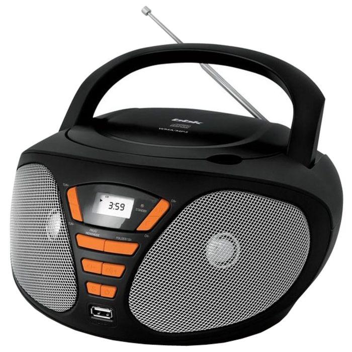 Магнитола BBK BX180U черный/оранжевый
