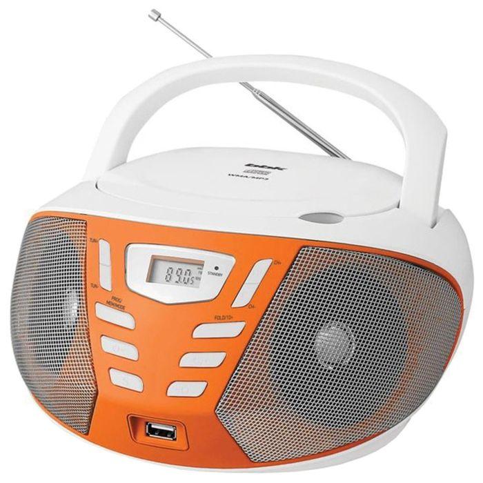 Магнитола BBK BX193U белый/оранжевый