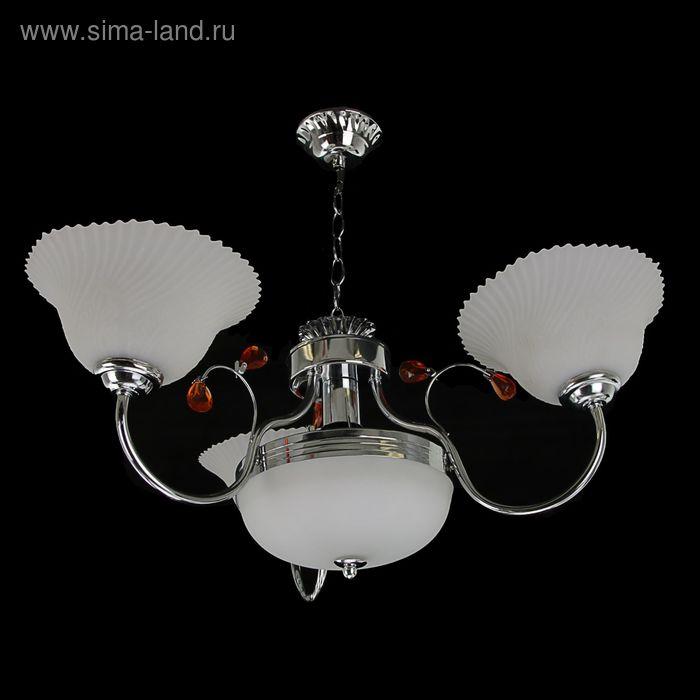 """Люстра """"Афродита"""" 3+1 лампы E27 60W 70х70х50 см"""