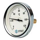 """Термометр STOUT, биметаллический, с погружной гильзой 50 мм 1/2"""", корпус Dn 80 мм"""