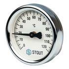 Термометр STOUT, биметаллический, накладной, с пружиной, корпус Dn 63 мм, SIM-0004-630015