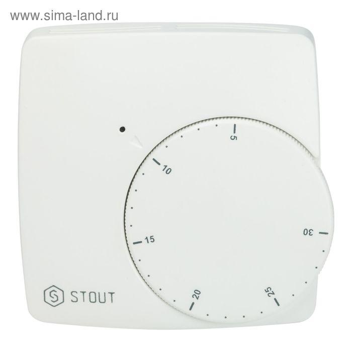 Термостат проводной электронный STOUT, WFHT-BASIC, со светодиодом, норм. открытый