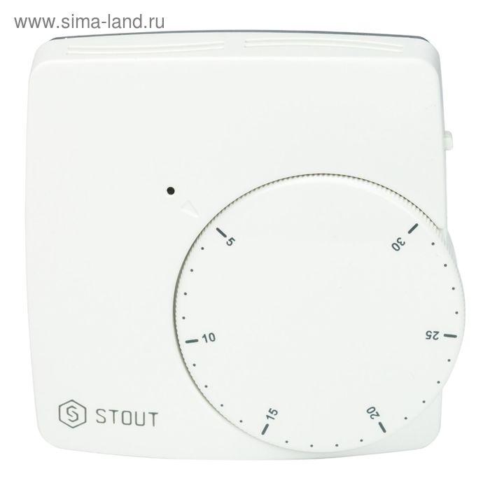 Термостат комнатный электронный STOUT, WFHT-DUAL, включ. дистанционный датчик «в пол», L=3 м   24402