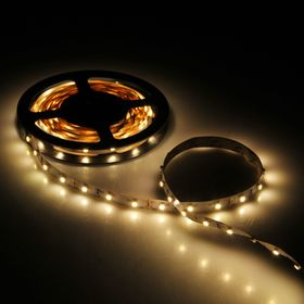 Светодиодная лента Volpe, 3м, IP20, 3528-60LED, 4,8Вт, теплый белый свет, самоклеящаяся Ош