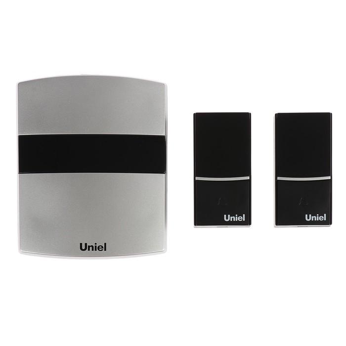 Звонок беспроводной Uniel, UDB-004W-R1T2-32S-100M-SL, серебристый