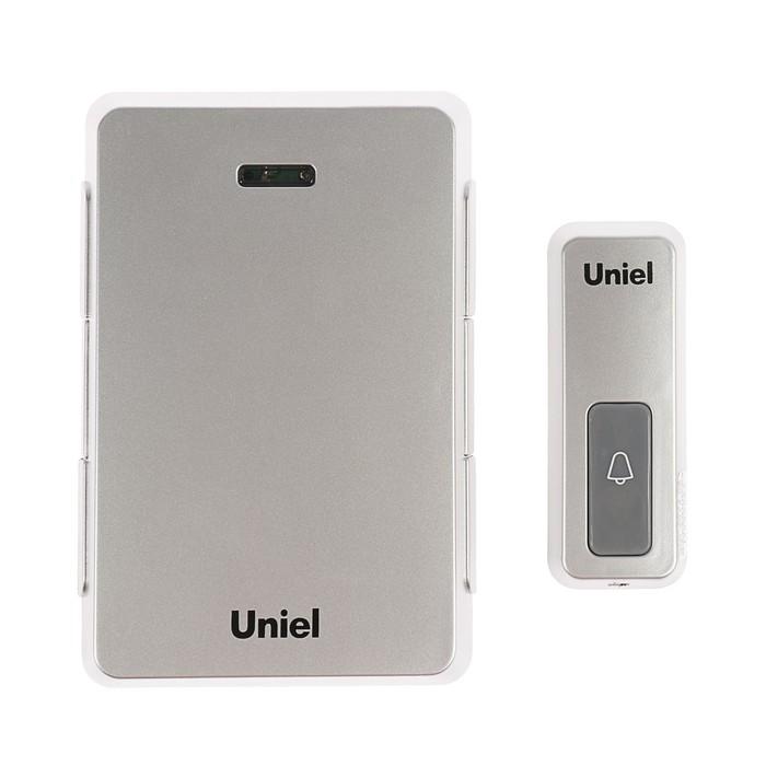 Звонок беспроводной Uniel, UDB-005W-R1T1-32S-100M-SL, серебристый