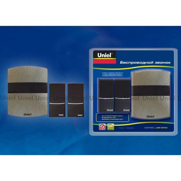 Звонок беспроводной Uniel, UDB-004W-R1T2-32S-100M-DS, темное серебро