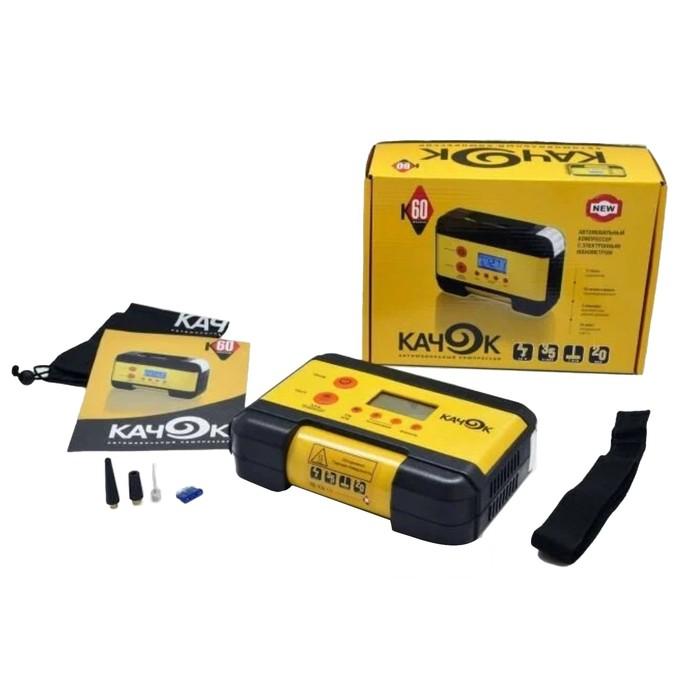 Автомобильный компрессор Качок K60, 35 л/мин, 12 А