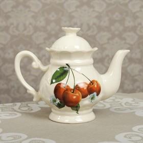 Чайник заварочный 'Ромашка' 0,5 л, вишня Ош