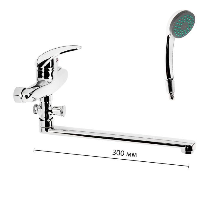 Смеситель для ванны Onix A1107, длина излива 30 см, хром - фото 4460853