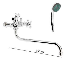 Смеситель для ванны Onix A1111, длина излива 30 см, керамические кран-буксы, хром