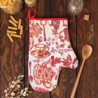 """Варежка-прихватка """"Доляна"""" Чайные традиции, размер 18х26 см, 100% хлопок, вафельное полотно 162г/м2"""