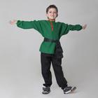 Детская рубаха с кушаком, цвет зелёный, 6-7 лет