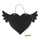 """Грифельная доска """"Сердце с крыльями"""" 42х30 см"""