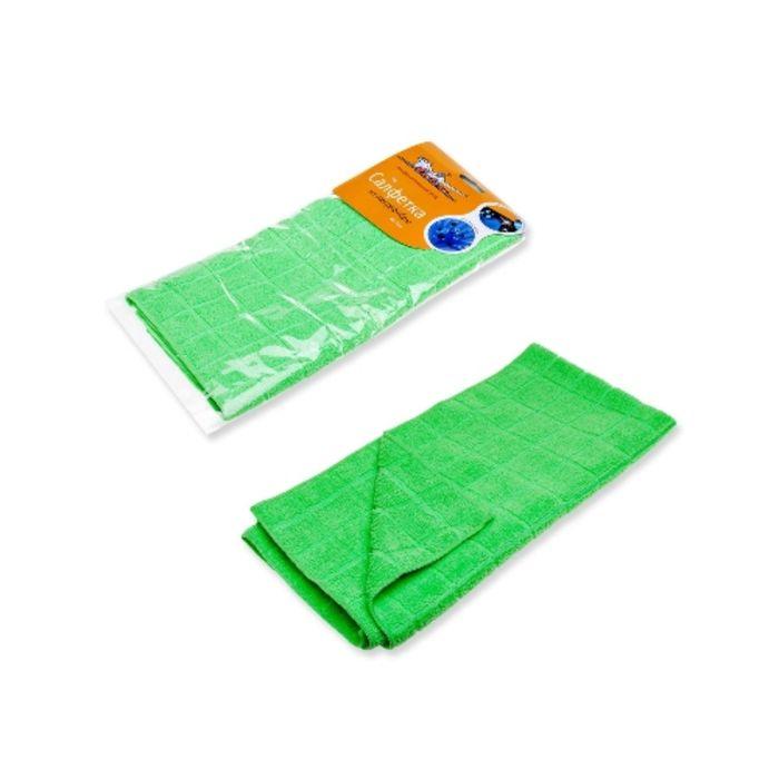 Салфетка из микрофибры зеленая 50*70 см Airline AB-A-07