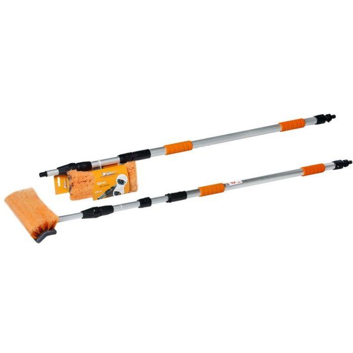 Швабра с насадкой для шланга, щеткой 25см и телескопической ручкой 300см Airline AB-H-05