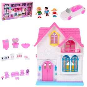 "Dolls at home ""Sweet home"" with furniture and accessories, foldable, light and sound effects"