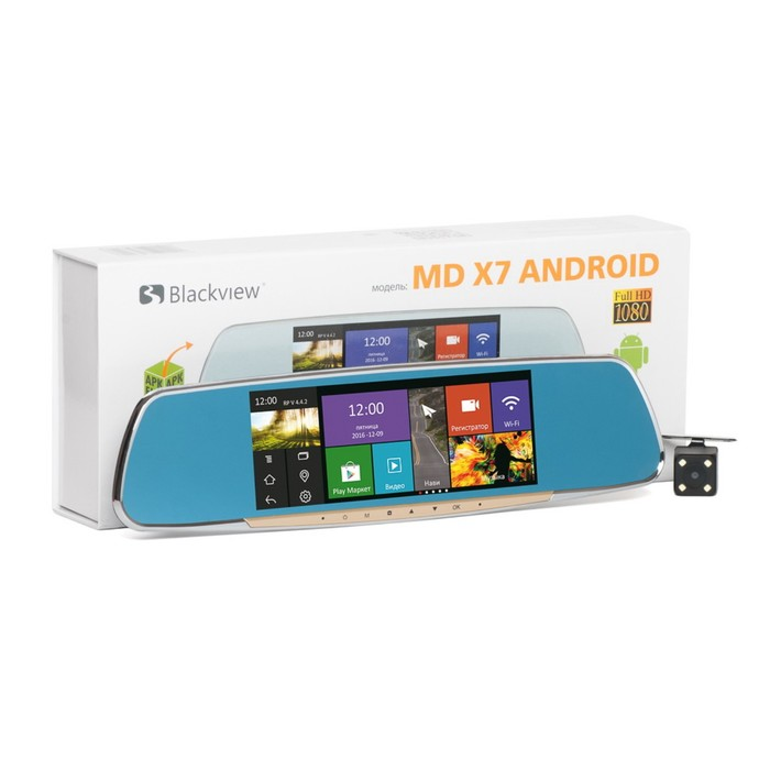 Видеорегистратор Blackview MD X7 Android зеркало 1920х1080 и 720х640