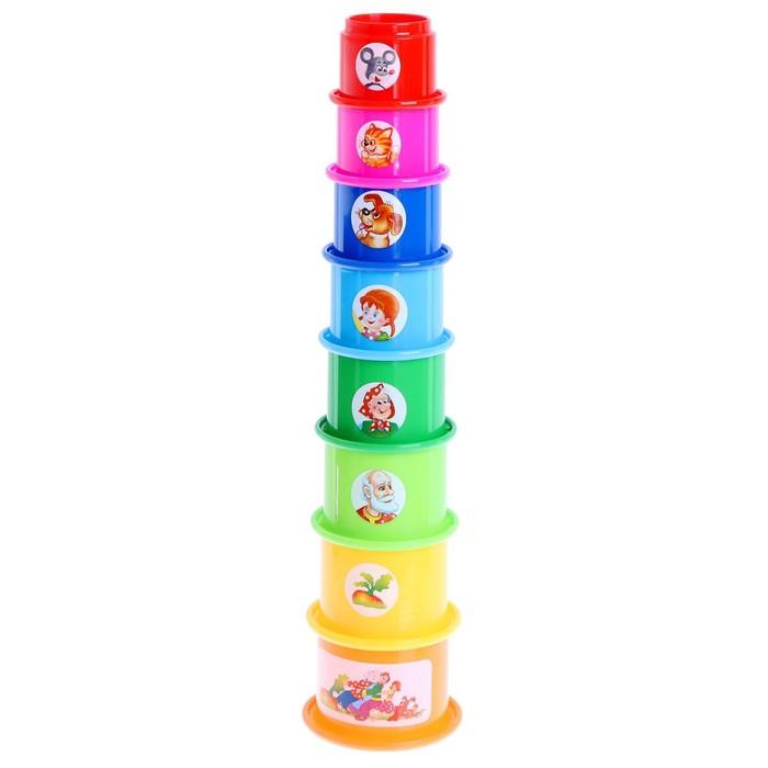 Развивающая игрушка «Занимательная пирамидка - 2», МИКС